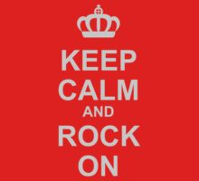 Keep Calm And Rock On! Kids Clothes