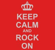 Keep Calm And Rock On! Kids Tee