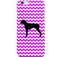 Perfectly Pink Chevron With Boxer Silhouette iPhone Case/Skin