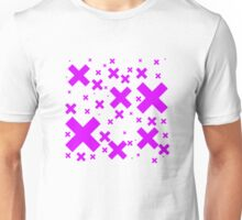 Pink Emo Crosses Unisex T-Shirt