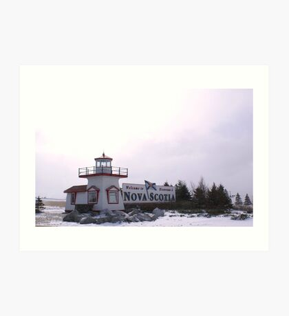 Welcome to Nova Scotia Art Print