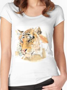 Tiger. The largest feline in the world. Women's Fitted Scoop T-Shirt
