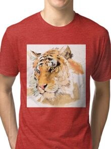 Tiger. The largest feline in the world. Tri-blend T-Shirt