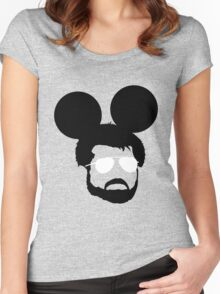 George Mouse (Black) Women's Fitted Scoop T-Shirt