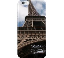 Looking Up The Eiffel Tower's Skirt iPhone Case/Skin