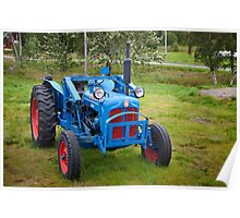 A lonely old tractor Poster