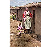 Masai Tribe - Mom and Child Photographic Print