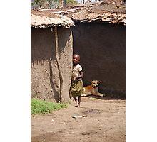 Masai Tribe - Child  Photographic Print