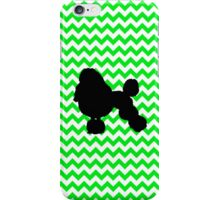 Irish Green Chevron with Poodle iPhone Case/Skin