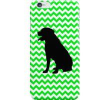 Irish Green Chevron with Labrador Silhouette iPhone Case/Skin