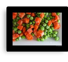 Frozen Vegetables - Peas And Carrots  Canvas Print