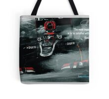 "Kimi Raikkonen Quote Poster - ""The most important thing..."" - 2013 Tote Bag"