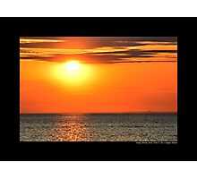 Evening Sun Above Long Island Sound - Stony Brook, New York  Photographic Print