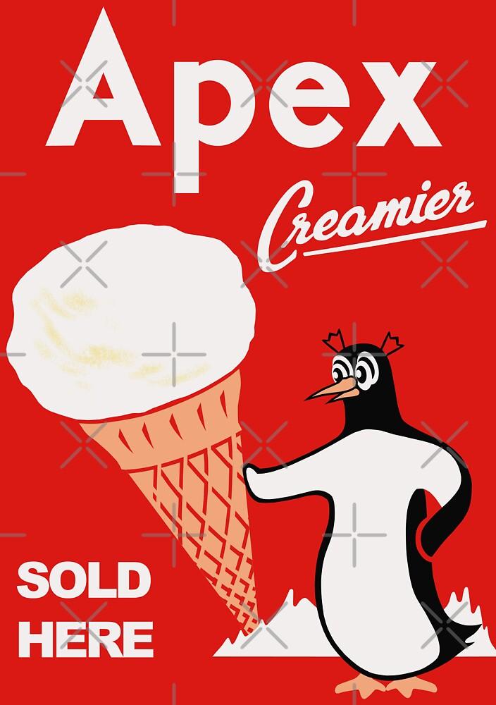 Apex Ice Cream Penguin Poster by Darian  Zam