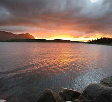 Sunset before the storm on the lake by DmiSmiPhoto