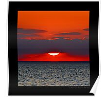 Long Island Sound Sunset - Stony Brook, New York  Poster