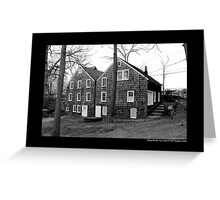Historic Grist Mill Building - Stony Brook, New York Greeting Card