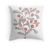 Cheering Crowd of Pink Flowers Throw Pillow