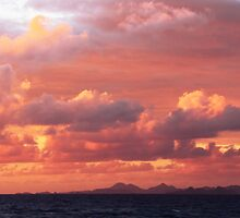 Morning Sunrise Sky over St. Barts by Roupen  Baker