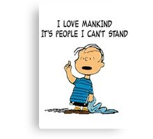 Linus Mankind Quote Canvas Print