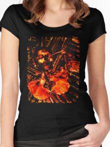 Grunge Skull Tee Women's Fitted Scoop T-Shirt