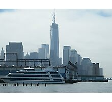 New World Trade Center, View from Christopher Street and Hudson River, New York City Photographic Print