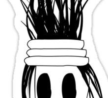 Little Girl with strange hair Sticker