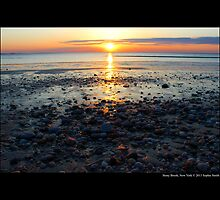 Sunset At West Meadow Beach - Stony Brook, New York by © Sophie W. Smith