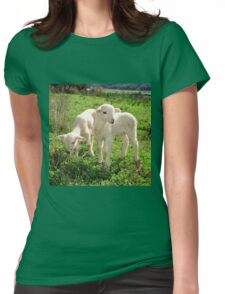 Spring Lambs Grazing On Farmland T-Shirt