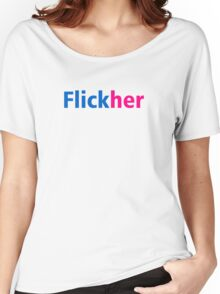 Flickher - Flickr Parody Women's Relaxed Fit T-Shirt