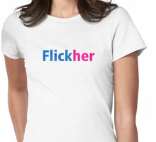 Flickher - Flickr Parody Womens Fitted T-Shirt