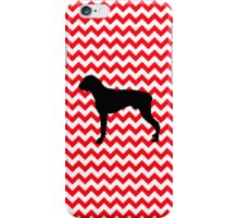 Fire Truck Red Chevron With Boxer iPhone Case/Skin