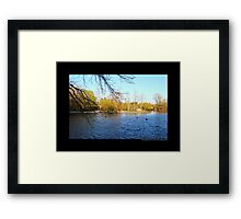 Afternoon At Grist Mill Pond - Stony Brook, New York  Framed Print