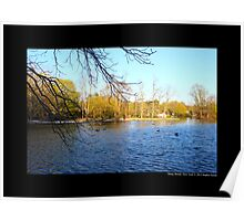 Afternoon At Grist Mill Pond - Stony Brook, New York  Poster