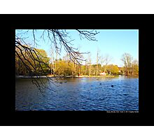 Afternoon At Grist Mill Pond - Stony Brook, New York  Photographic Print