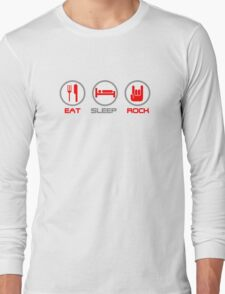 Eat Sleep Rock Long Sleeve T-Shirt
