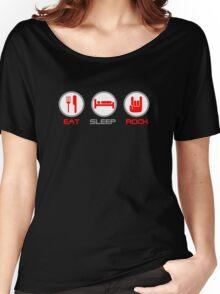 Eat Sleep Rock Women's Relaxed Fit T-Shirt