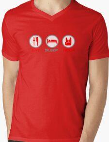 Eat Sleep Rock Mens V-Neck T-Shirt