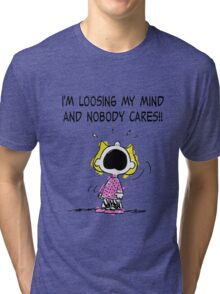 Sally Peanuts Quote Tri-blend T-Shirt