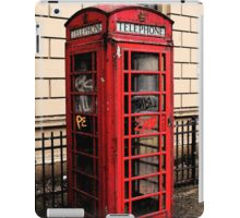 Red/Graffiti Phone Box iPad Case/Skin