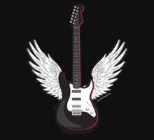 Winged Guitar One Piece - Short Sleeve
