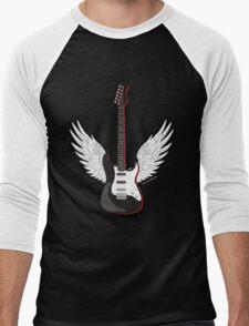 Winged Guitar Men's Baseball ¾ T-Shirt