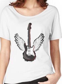 Winged Guitar Women's Relaxed Fit T-Shirt