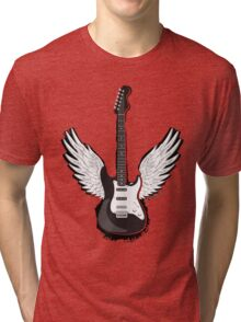 Winged Guitar Tri-blend T-Shirt