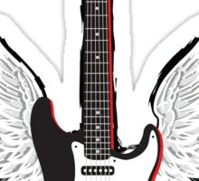 Winged Guitar Sticker