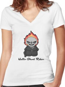 Hello hothead Women's Fitted V-Neck T-Shirt