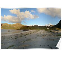 Sandy beach in the north of Norway Poster