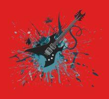 Graffiti Guitar One Piece - Short Sleeve