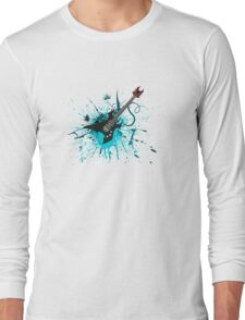 Graffiti Guitar Long Sleeve T-Shirt