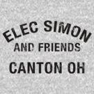 Elec Simon & Friends - Canton OH in Black Letters by Benjamin Lehman